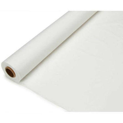 Banquet Plastic Table Roll Uncut, 40-inch x 100-feet, White