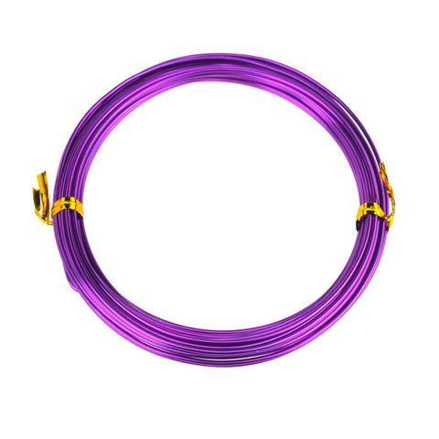 Aluminum Wire Craft Metal, 15 Gauge, 1.5mm, 10 Yards, Purple