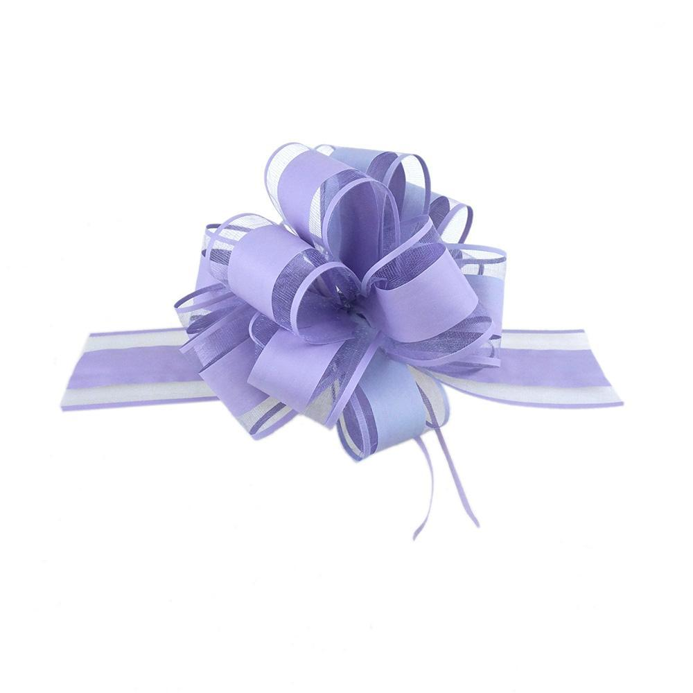 Snow Pull Bow Ribbon, Lavender, 14 Loops, 2-Inch, 2-Count