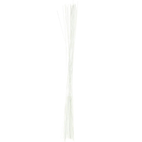 Aluminum Floral Wire, 18 Gauge, White, 18-Inch, 12-Count