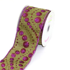 Canvas Ribbon with Glitz Dots, 2-1/2-inch, 10-yard - CLOSEOUT