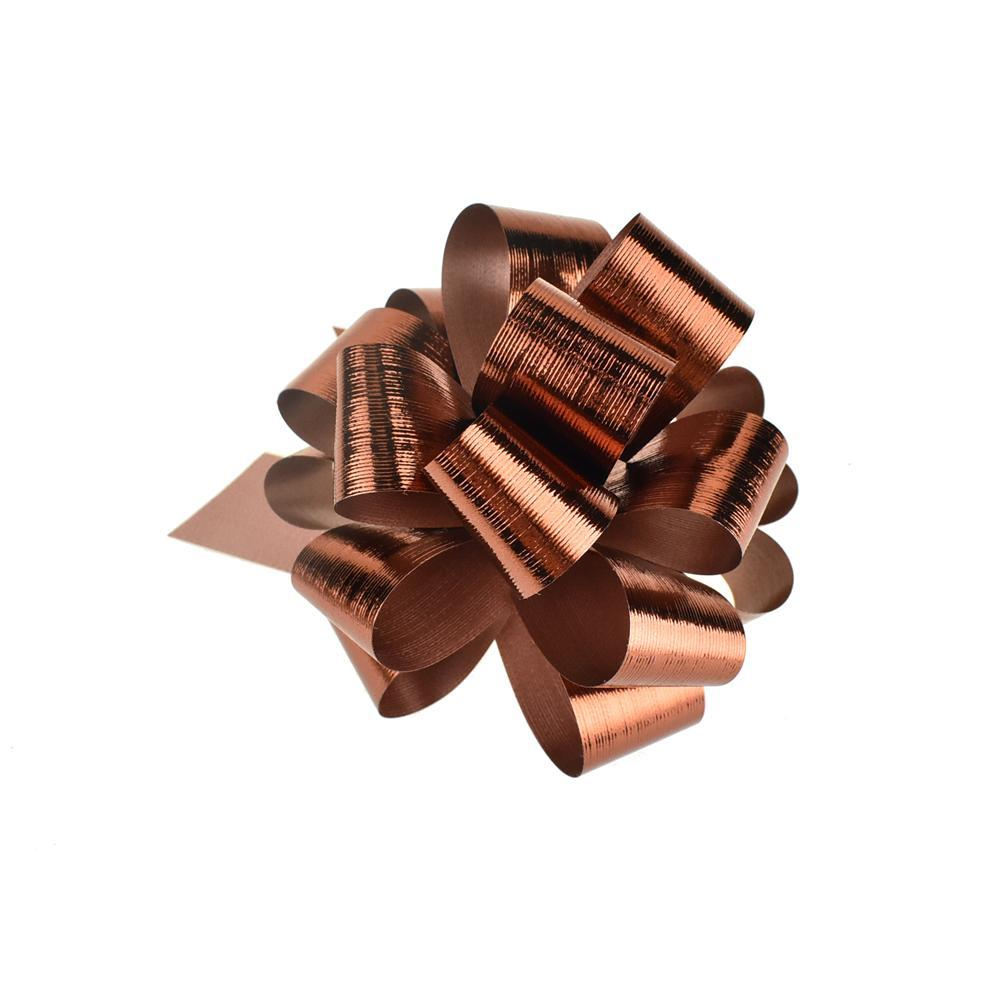 Metallic Pull Bows for Gift Wrapping, 2-Piece, Small, Copper