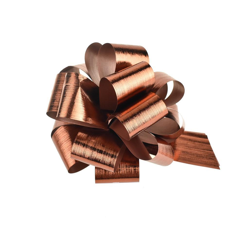 Metallic Pull Bows for Gift Wrapping, 2-Piece, Medium, Copper