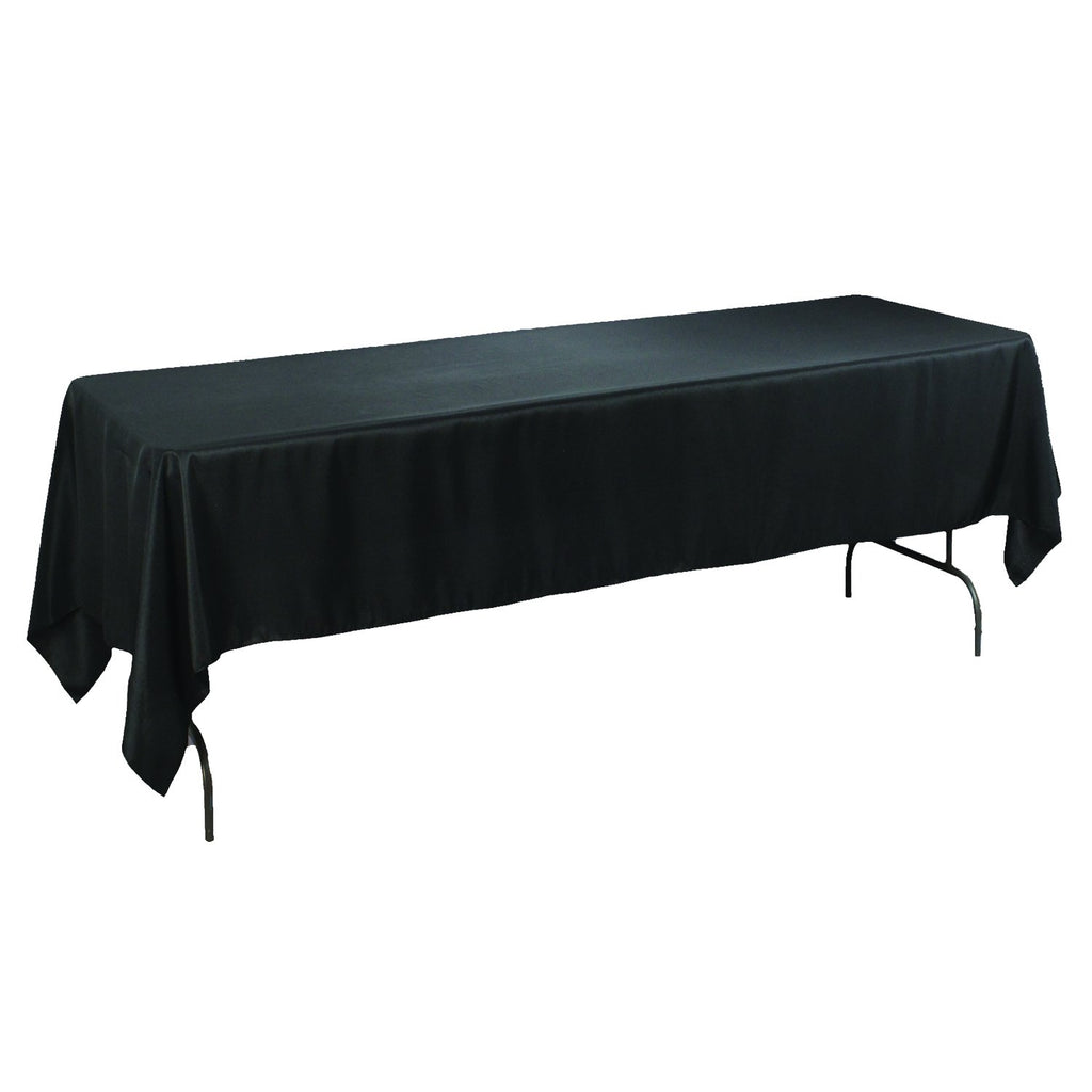 Rectangular Polyester Tablecloth, 60-Inch by 102-Inch, Black