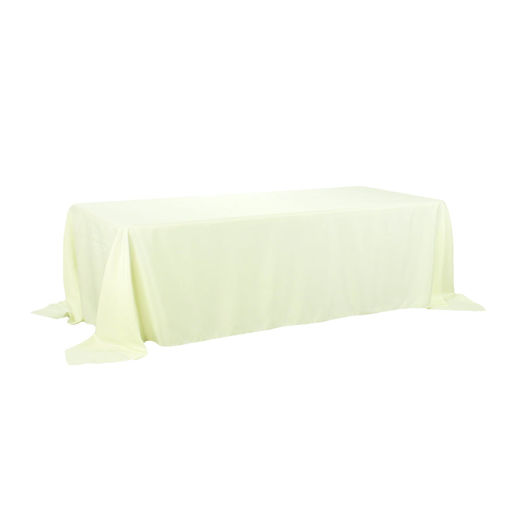 Rectangular Polyester Tablecloth, 90-Inch by 132-Inch, Ivory