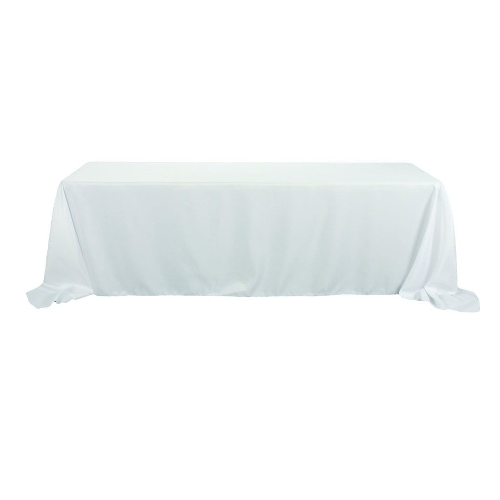 Rectangular Polyester Tablecloth, 90-Inch by 156-Inch, White