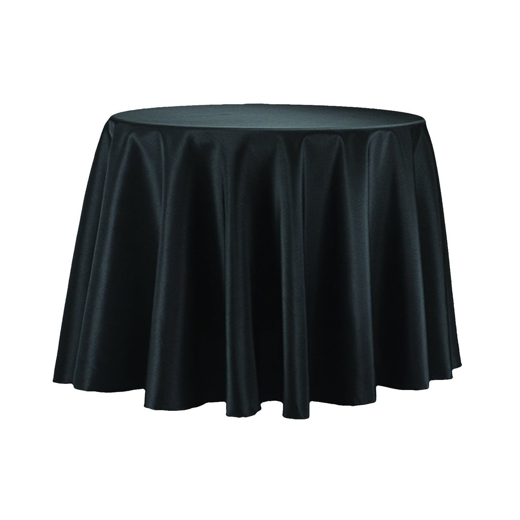 Round Polyester Tablecloth, 90-Inch, Black