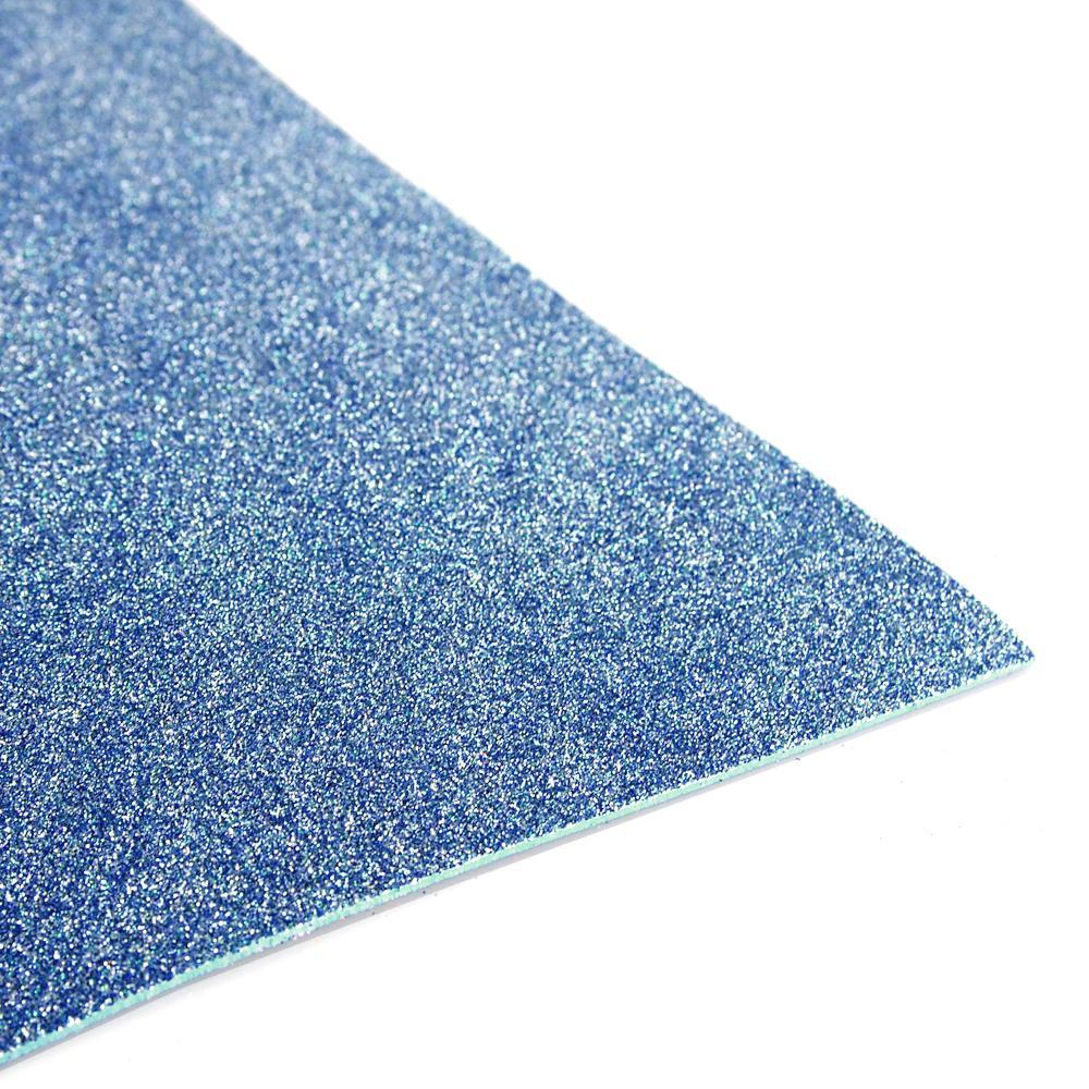 Glitter EVA Foam Sheet, 13-inch x 18-inch, 10-Piece, Blue