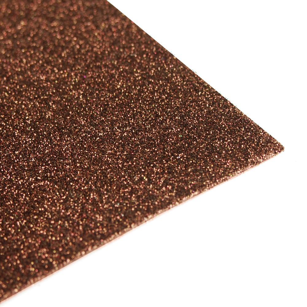 Glitter EVA Foam Sheet, 13-inch x 18-inch, 10-Piece, Brown