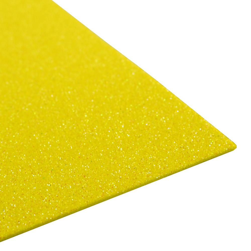 Glitter EVA Foam Sheet, 9-inch x 12-inch, 10-Piece, Yellow