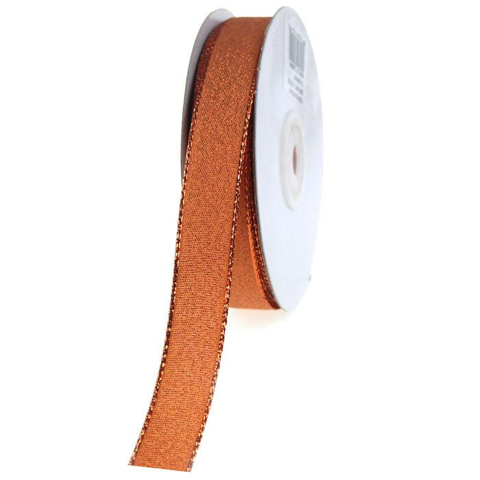 Shimmering Metallic Ribbon, 5/8-Inch, 25 Yards, Copper