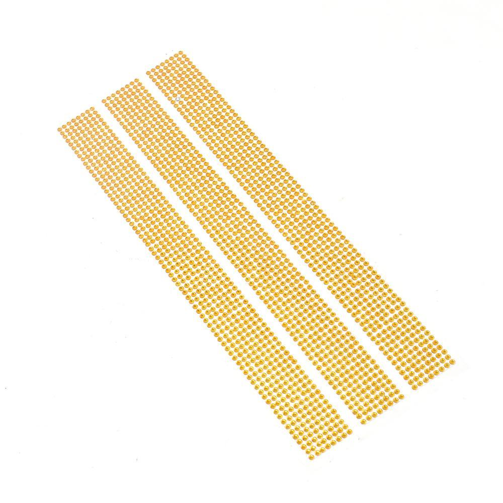 Diamond Gemstone Ribbon Stickers, 3mm