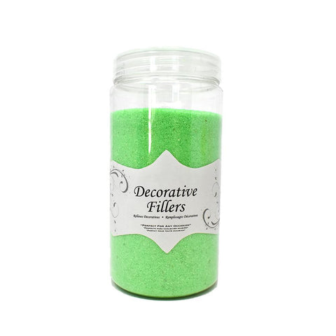 Acrylic Crystal Decorative Filler Sand, 14-Ounce, Green