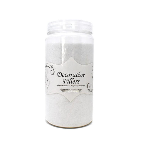 Acrylic Crystal Sand Decorative Vase Filler, White, 9/10-Pound
