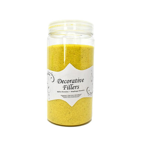 Acrylic Crystal Sand Decorative Vase Filler, Yellow, 9/10-Pound
