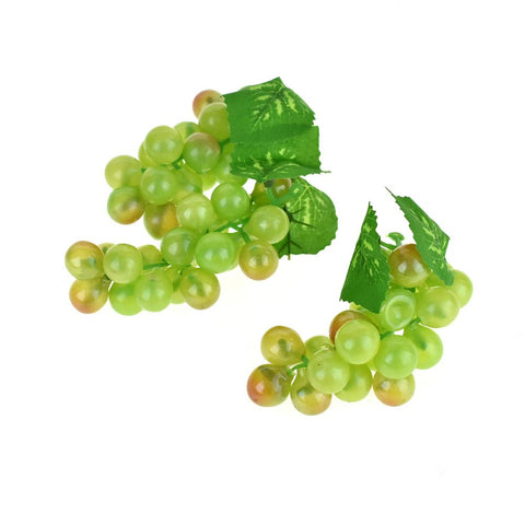 Artificial Decorative Grapes Bunch, 4-Inch, 12-Piece, Green