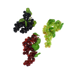 Artificial Decorative Grapes Bunch, 4-Inch, 12-Piece