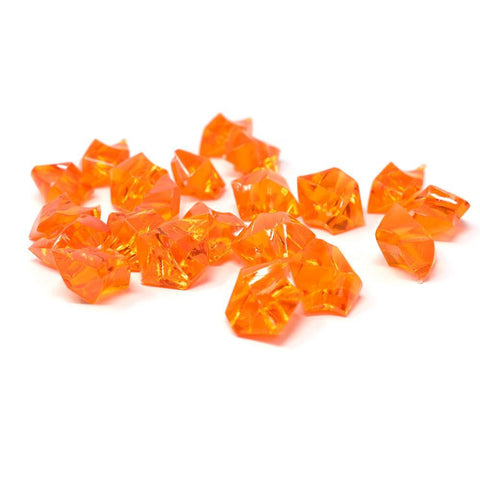 Acrylic Crystal Ice Rocks Table Scatter, 1-inch, 150-Piece, Orange