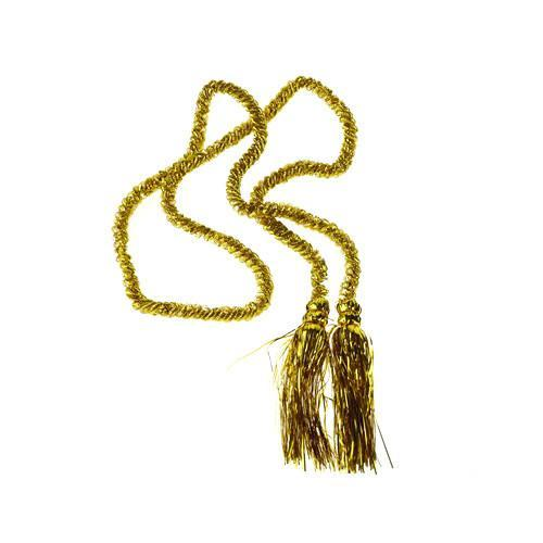Metallic Foil Tassel Cord, 7-Feet, Gold