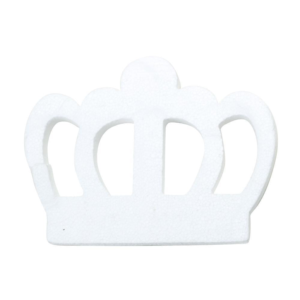 DIY Foam Regal Crown Cut-Out, White, 23-1/2-Inch
