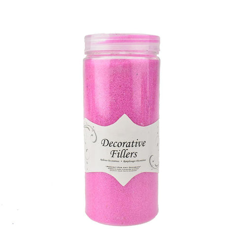 Acrylic Crystal Decorative Filler Sand, 14-Ounce, Fuchsia