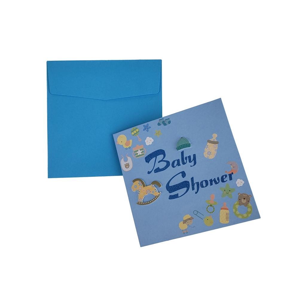 3D Baby Shower Nursery Invitations, 5-3/4-Inch, 10-Piece