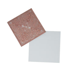 Square Glitter Laser Cut Blank Invitations, 6-Inch, 8-Count