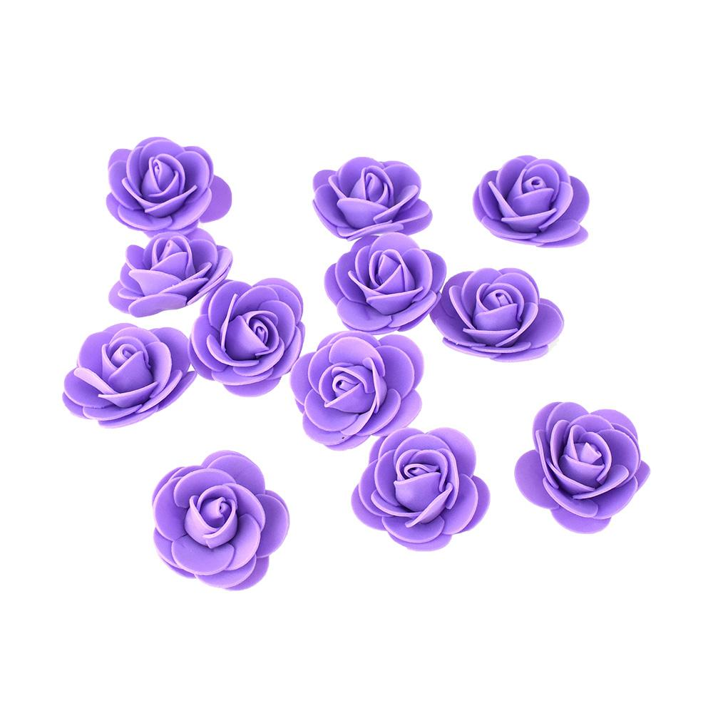 Craft Foam Roses, Lavender, 1-3/4-Inch, 12-Count