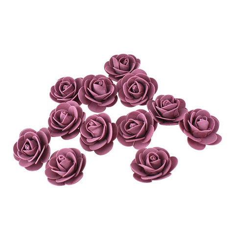 Craft Foam Roses, Mauve, 1-3/4-Inch, 12-Count