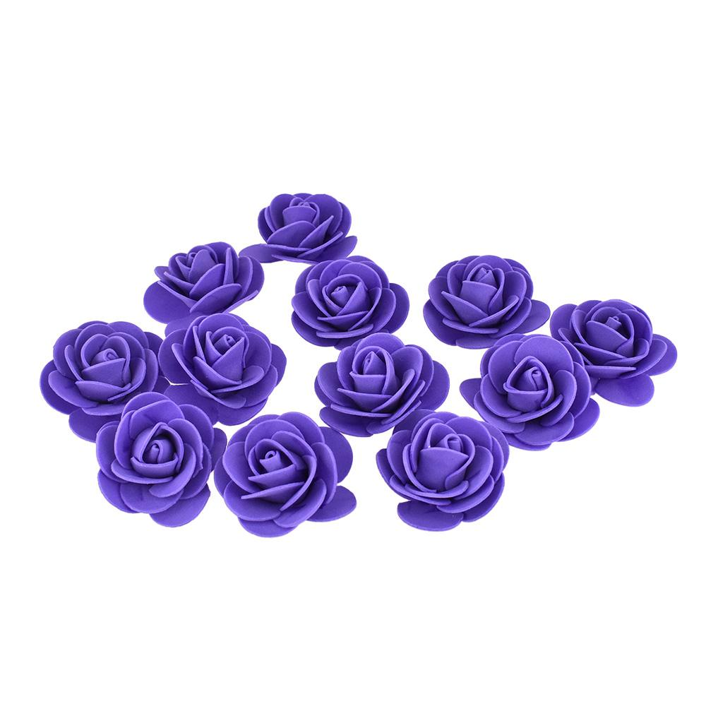 Craft Foam Roses, Purple, 1-3/4-Inch, 12-Count