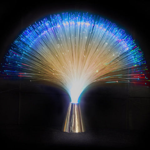 Fiber Optic Light Centerpiece, 15-Inch, Multi-color