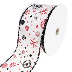 Winter Wonderland Wired Christmas Ribbon, 2-1/2-Inch, 25-Yard