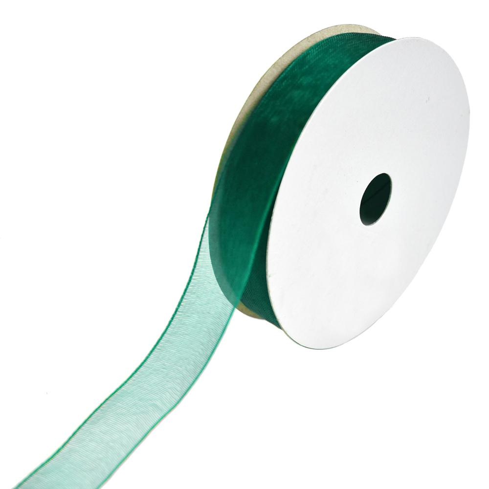 Sheer Nylon Organdy Ribbon, 5/8-Inch, 25-Yard, Teal