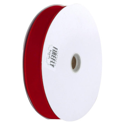 Christmas Velvet Ribbon Wired Edge, 1-1/2-Inch 50 Yards, Red