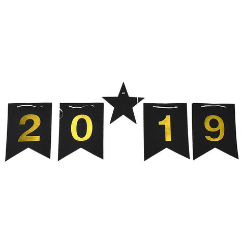 2019 to 2020 Glitter New Year Banner, 5-Foot, 7-Piece