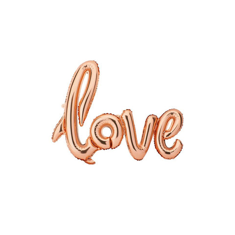 "Aluminum Foil ""Love"" Balloon, Rose Gold, 32-Inch"