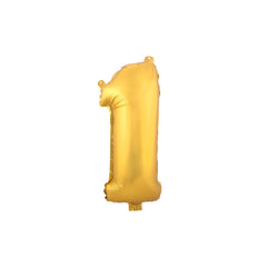"Aluminum Foil Number Balloon ""1"", Gold, 34-Inch"
