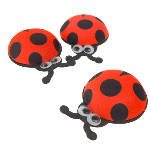 Foam Ladybug Favors with Googly Eyes, Red, 2-3/4-Inch, 10 Count