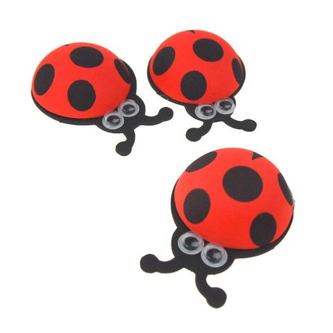 Foam Ladybug Favors with Googly Eyes, Red, 2-1/4-Inch, 10 Count
