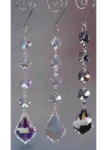 Acrylic Chandelier Crystals, Gemstone Link, 6-Inch, Clear