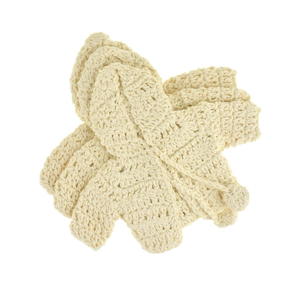 Mini Crochet Knitted Hoodie Favors, 3-1/2-Inch, 3-Piece, Natural