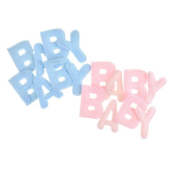 Baby Puffy Crochet Knitted Letters, 8-Piece