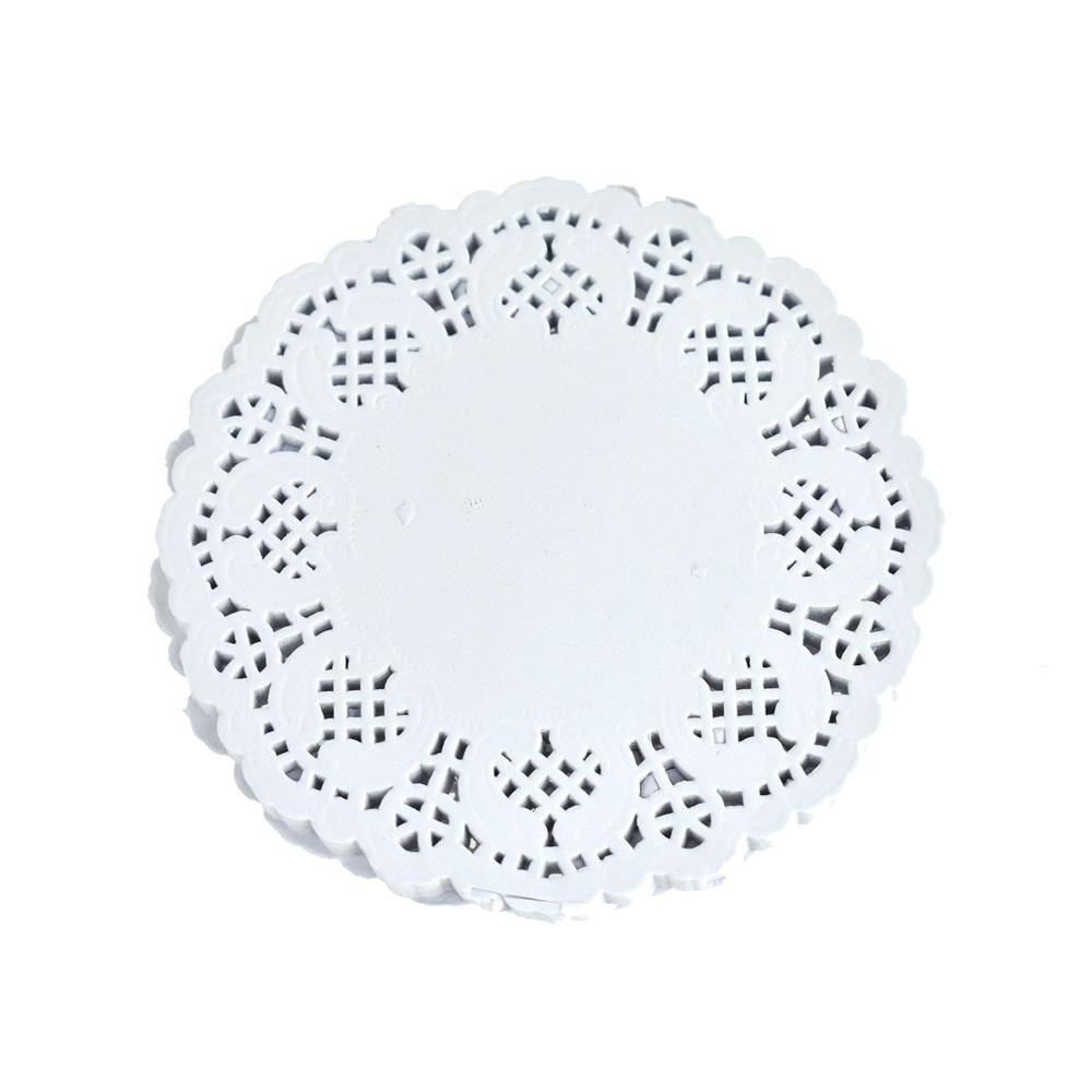Round Paper Lace Doilies, White, 4-1/2-Inch, 30-Count