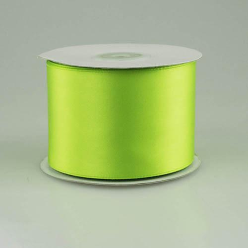 Double Faced Satin Ribbon, 2-1/2-inch, 25-yard, Apple Green