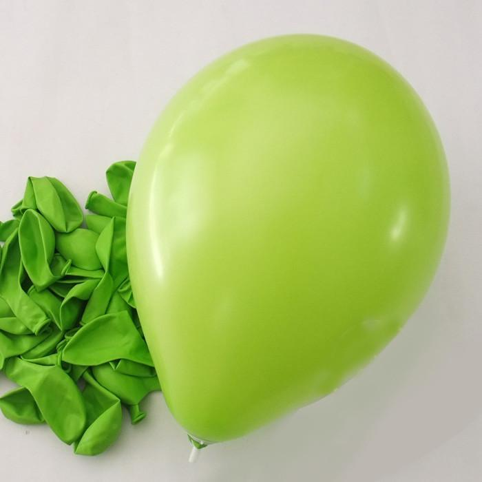 Latex Balloons Party Supplies, 12-inch, 12-piece, Apple Green