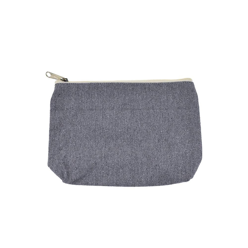 Recycled Canvas Zipper Pouch, 8-Inch