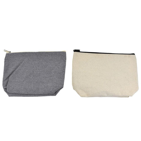 Canvas Zipper Pouch, 10-Inch