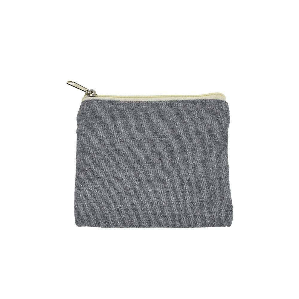 Recycled Canvas Zipper Pouch, 5-1/2-Inch