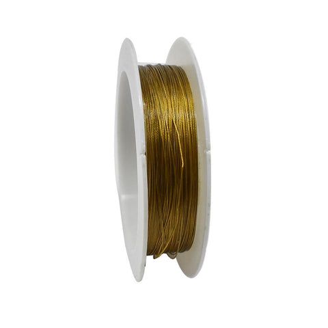 Tiger Tail Beading Wire, 39-feet, Gold