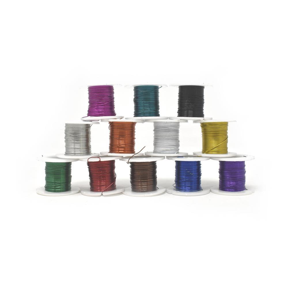 Beading & Jewelry Wire, Assorted Colors, 12-Piece